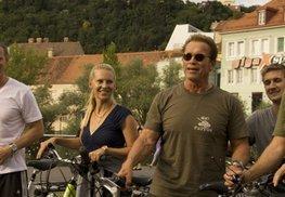 Arnold Schwarzenegger - eine Runde mit dem E-Steirerbike